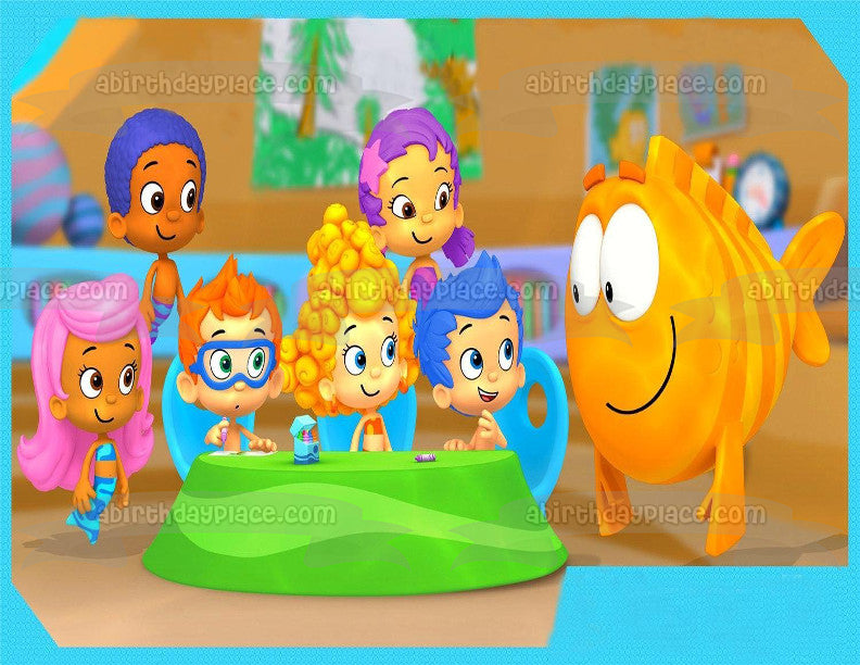 Bubble Guppies Tea Party Gil Molly Deema Goby Oona Nonny Edible Cake Topper  Image ABPID00801