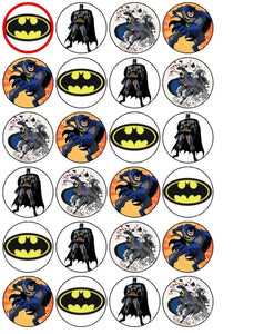 DC Comics Batman Logo Bruce Wayne Edible Cupcake Topper Images ABPID01642
