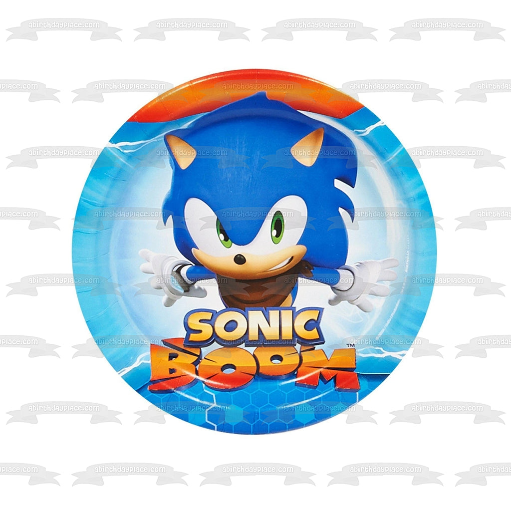 Sonic The Hedgehog Sonic Boom Blue Background Edible Cake Topper Image A Birthday Place
