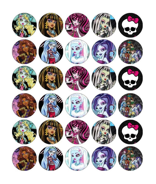 Monster High Mattel Draculaura Frankie Stein Edible Cupcake Topper Images ABPID03282