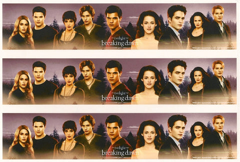 Twilight Breaking Dawn Jacob Bella Edward Carslile Edible Cake Topper Image Strips ABPID03354