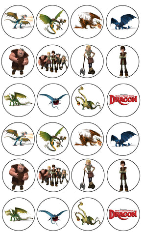 How To Train Your Dragon Fishlegs Hiccup Astrid Edible Cupcake Toppers ABPID03418