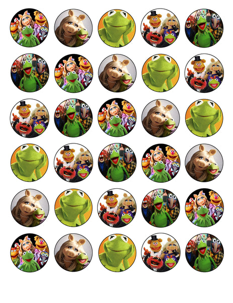 The Muppets Kermit Miss Piggy Animal Gonzo Fozzy Bear Edible Cupcake Topper Images ABPID03460