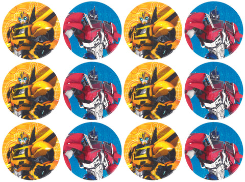 Transformers Bumblebee Optimus Prime Edible Cupcake Topper Images ABPID03795