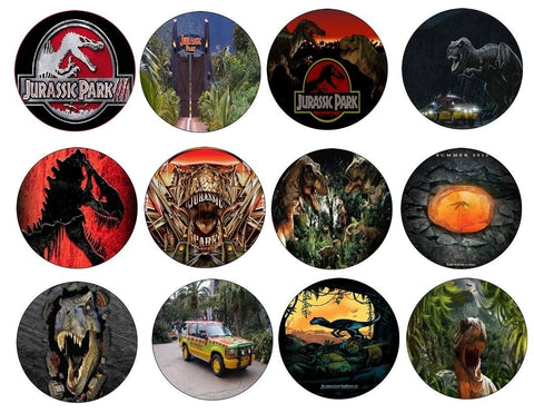 Jurassic Park Tyrannosaurus Rex Logo Jeep Edible Cupcake Topper Images ABPID03882
