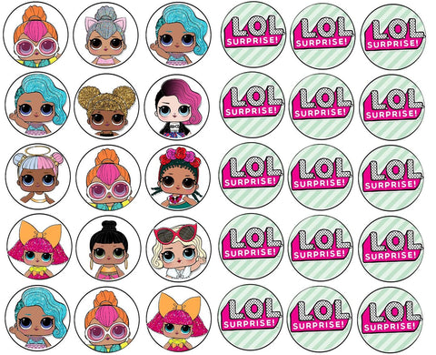 Lol Surprise Logo Dolls Diva Edible Cupcake Toppers ABPID03991
