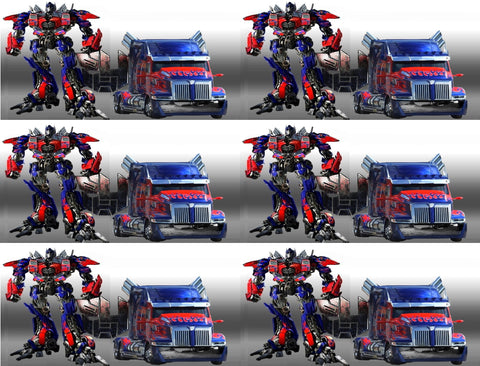 Transformers Optimus Prime Autobots Convoy Orion Pax Edible Cake Topper Image Strips ABPID04088