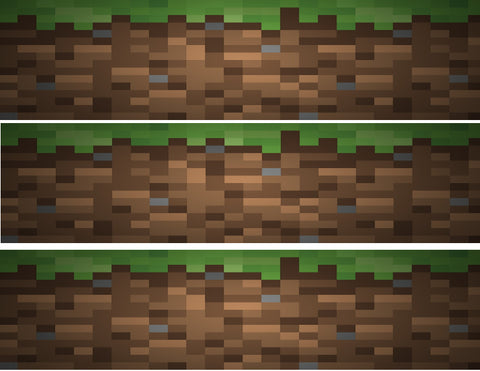Minecraft Grass Block Dirt Edible Cake Topper Image Strips ABPID04430