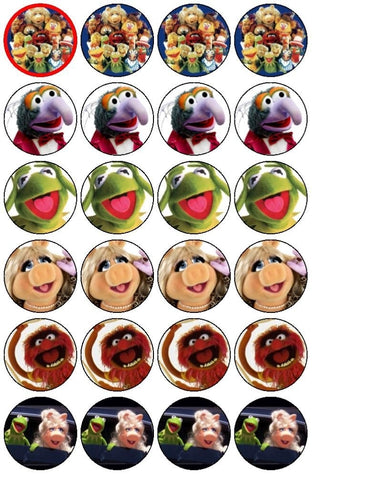 Jim Henson Muppets Gonzo Kermit the Frog Miss Piggy Edible Cupcake Topper Images ABPID04482