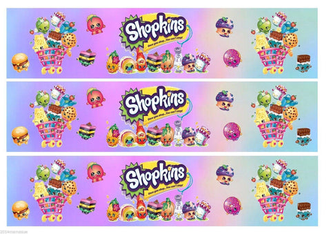 Shopkins D'Lish Donut Cupcake Queen Twinky Winks Apple Blossom Cheeky Chocolate Kooky Cookie Edible Cake Topper Image Strips ABPID04934