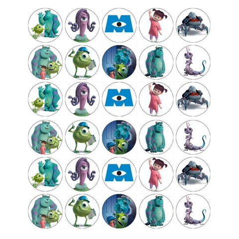 Disney Monsters Inc. Boo Sully Edible Cupcake Toppers ABPID05264