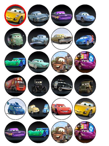 Cars 2 Lightening McQueen Sally Carrera Mater Holly Shiftwell Edible Cupcake Topper Images ABPID06657