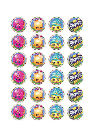 Shopkins D'Lish Donut Cupcake Queen Twinky Winks Edible Cupcake Topper Images ABPID06777