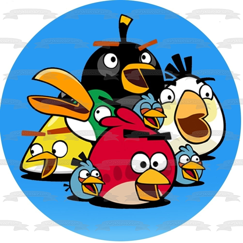Angry Birds Logo Terrance The Blues Chuck Bomb Matilda Hal Edible Cake  Topper Image ABPID07504