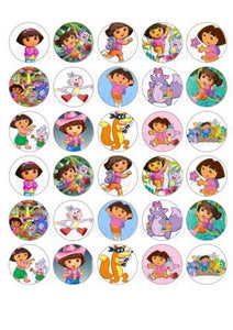 Dora The Explorer Boots Tico Backpack Map Edible Cupcake Toppers ABPID12196