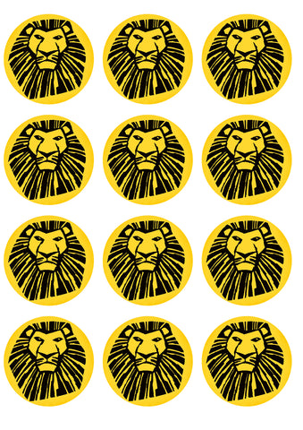 Disney The Lion King Broadway Musical Mufasa Edible Cupcake Topper Images ABPID14774
