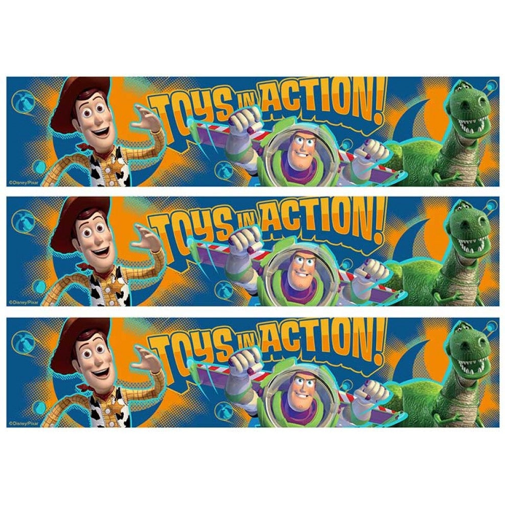 Toy Story Toys In Action Cake Strips Buzz Lightyear Woody Rex Edible Cake Topper Image Strips ABPID50308