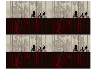 Stranger Things Cake Strips Upside Down Riding Bikes Edible Cake Topper Image Strips ABPID50365