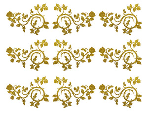 Descendants Inspired Gold Sparkle Edible Cake Topper Image Strips ABPID50820