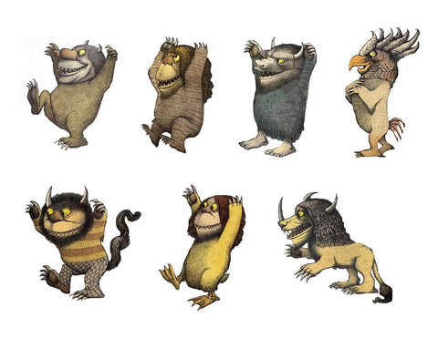 Where the Wild Things Are Assorted Monsters Disney Edible Cupcake Topper Images ABPID50944