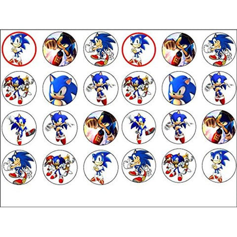 Sonic the Hedgehog Assorted Pictures Knuckles the Echidna Tails Edible Cupcake Topper Images ABPID51348