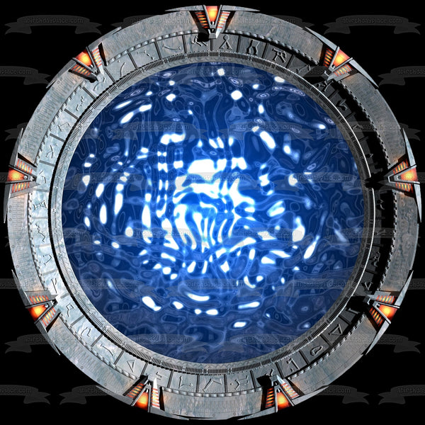 Stargate Sg-1 Sci Fi TV Show Series Wormhole Edible Cake Topper Image ABPID53380