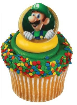 Super Mario™ Luigi Cupcake Rings (12 Pieces, Luigi only)