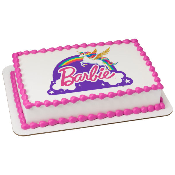"A Birthday Place - Cake Toppers - Barbie""¢ Dreamtopia - Just Believe Edible Cake Topper Image"