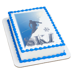 A Birthday Place - Cake Toppers - Ski Edible Cake Topper Image