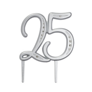 "A Birthday Place - Cake Toppers - ""25"" Diamond Milestone Monogram"