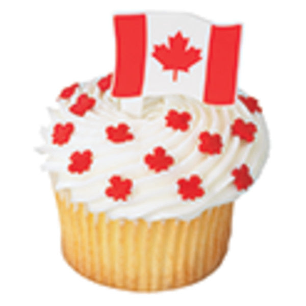 A Birthday Place - Cake Toppers - Canadian Flag DecoPics®