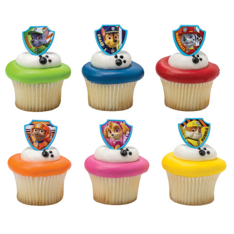 A Birthday Place - Cake Toppers - PAW Patrol Ruff Ruff Rescue Cupcake Rings