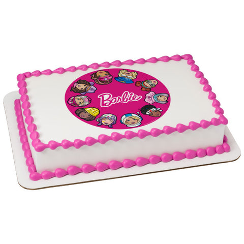 Barbie™ She Does It All Edible Cake Topper Image