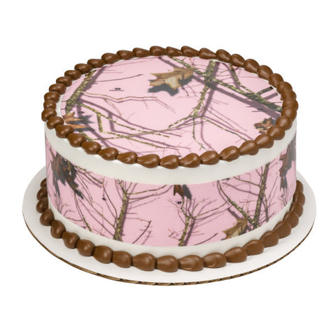 Mossy Oak® Break-Up Pink Edible Cake Topper Image Strips