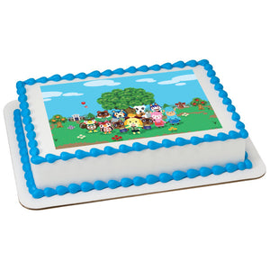 Animal Crossing™ Let's Hang Out Edible Cake Topper Image