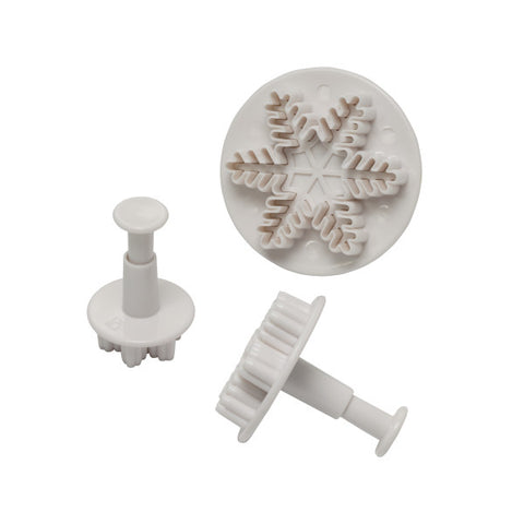 Snowflake Plunger, 3-Piece Set Cutters/Molds