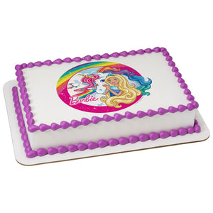 Swell Barbie Dreamtopia Imagine Edible Cake Topper Image A Birthday Place Personalised Birthday Cards Beptaeletsinfo
