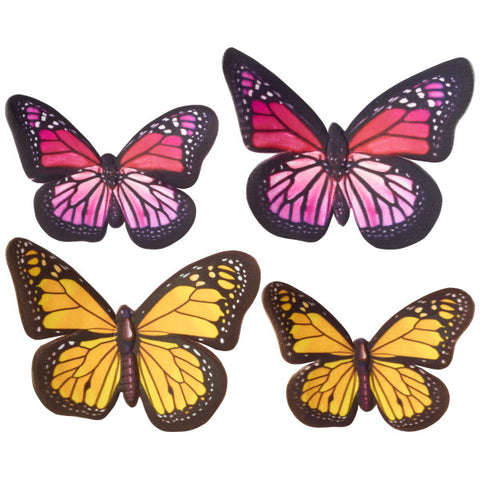 Yellow And Pink Butterflies Gum Paste