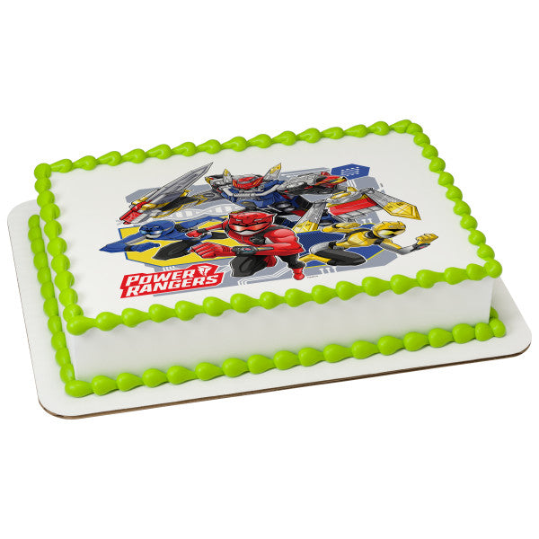 Power Rangers Beast Morphers Edible Cake Topper Image A