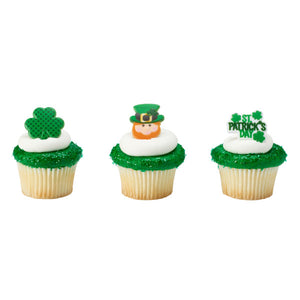 St. Patrick's Day Icons Cupcake Rings