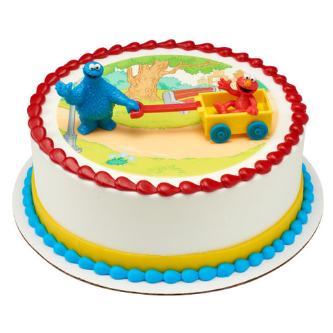 Sesame Street® Let's Play Edible Cake Topper Image DecoSet® Background