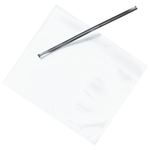 "Clear Treat Bags with Silver Twist Ties, 3 1/2"" x 4"" Decorating Tools"