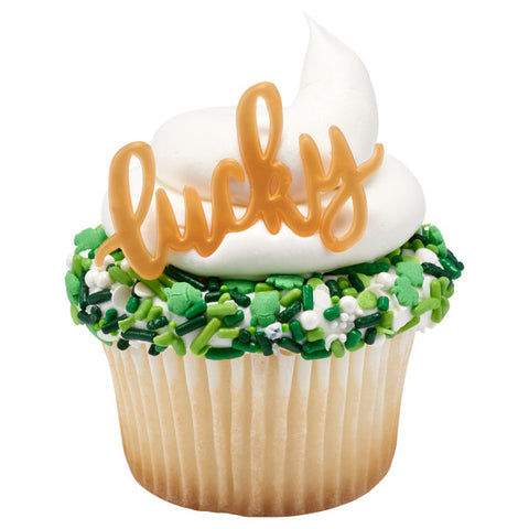 Gold Lucky Cupcake Layon