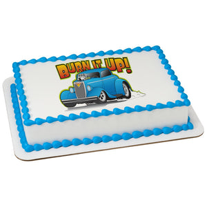 A Birthday Place - Cake Toppers - Hot Rod Car Edible Cake Topper Image