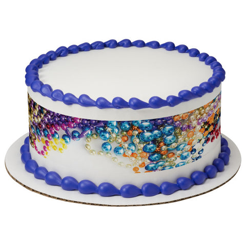 Bright Beads Edible Cake Topper Image Strips