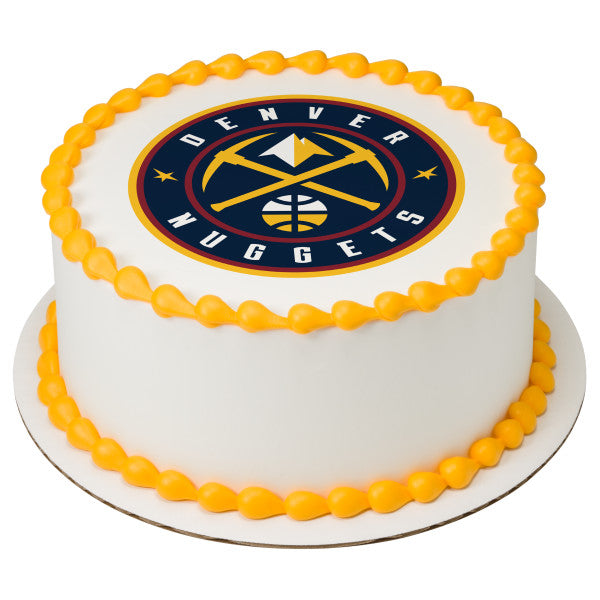 NBA Denver Nuggets Edible Cake Topper Image A Birthday Place