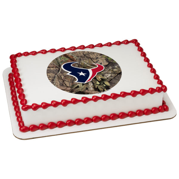 Nfl Houston Texans Mossy Oak Edible Frosting Image A Birthday Place