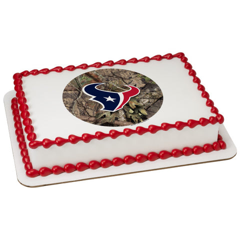 A Birthday Place - Cake Toppers - NFL Houston Texans Mossy Oak Edible Frosting Image