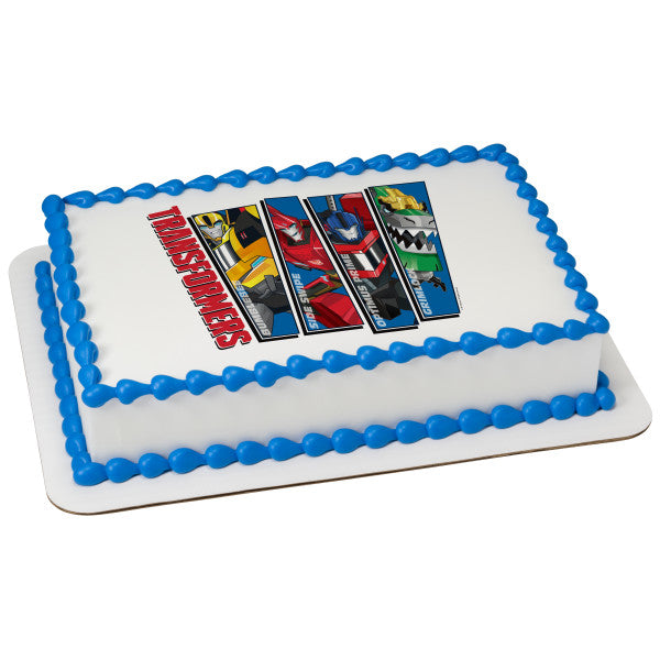 Transformers One Team Mission Edible Cake Topper Image A