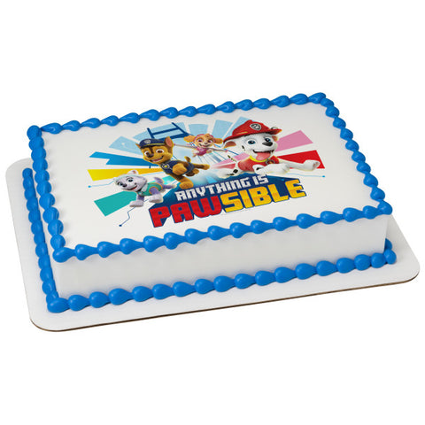 PAW Patrol™ Anything Is Pawsible Edible Cake Topper Image